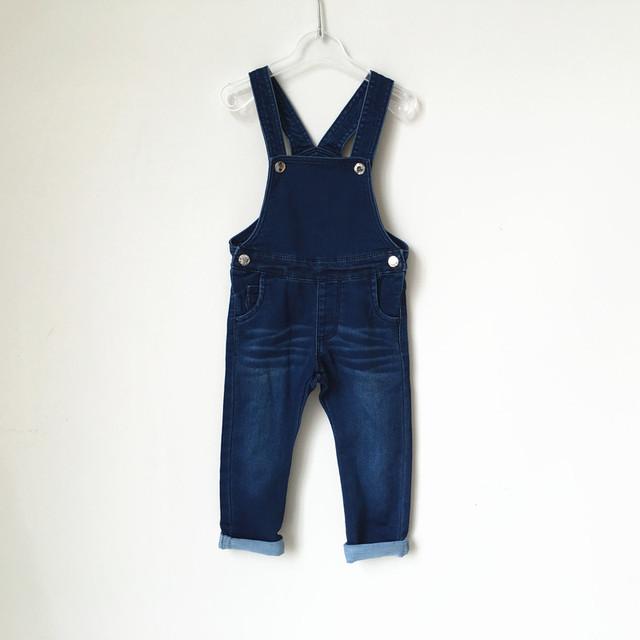 2016 nova moda lazer Pant para Meninos Das Meninas Do Bebê bib calças roupas de bebê crianças denim calças cintas Infantil suave Geral calças de brim