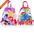 20pcs My Little Ponys Cartoon Drawstring Backpack Bags 34*27CM School Furniture Non-Woven Fabric Party & Candy Bags Party Favors