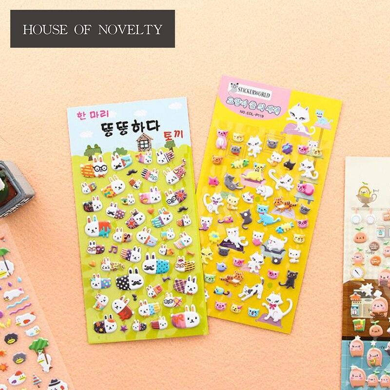 Animal Running Match 3D Decorative Washi Stickers Scrapbooking Stick Label Diary Stationery Album Stickers