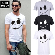 Showtly  Mens Fashion 2019 Short Sleeve Plus Size Hot Sale Printing T shirt Homme Fitness Tops Summer Style Tee