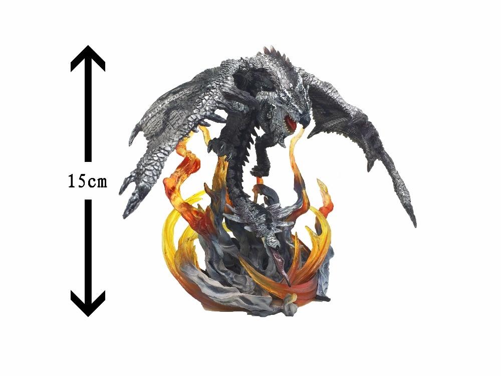 ФОТО Limited   Original! 15cm high Capcom Monster Hunter X OL DMA    Silver Dragon  Leo Reus   CBF Karp air genuine without box