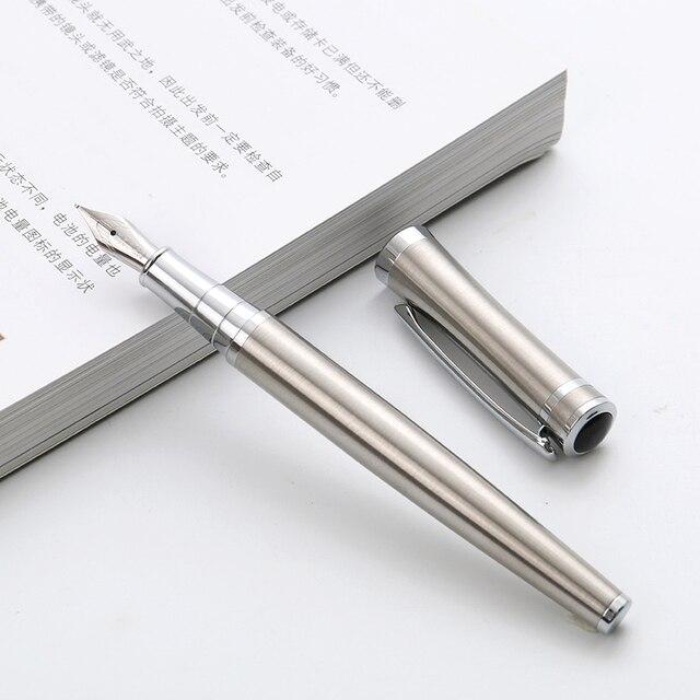 1 unid alta calidad Iraurita pluma fuente de Metal llena de plumas Caneta Oficina suministros de papelería de la escuela