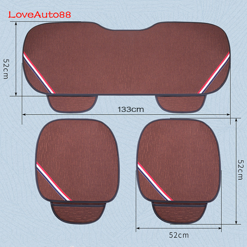 Image 5 - 3pcs Universal Car Seat Cover Front Rear Seats Breathable Protector Mat Pad Auto Accessories  Four Seasons Accessories-in Automobiles Seat Covers from Automobiles & Motorcycles