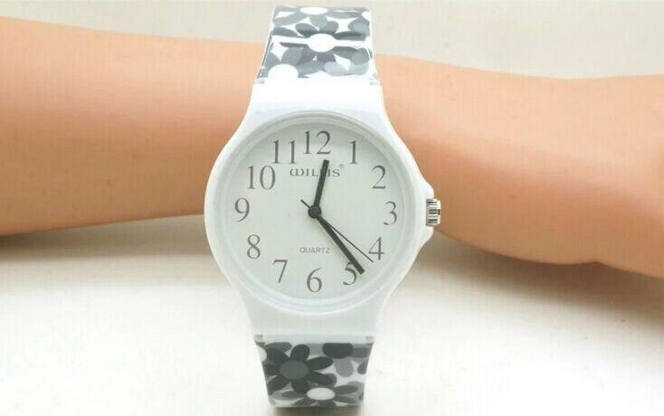 Women Flowers Watch Casual Watch Willis Quartz Fashion Design Water Resistant Wrist Watch with Slim Silicone Band 0840 10pcs
