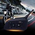 Nova 2 pcs V6-1200 M Capacete Da Motocicleta Do Bluetooth V3.0 Multi Interfone 6 Pilotos Interphone Headsets Kits para Motociclista esquiadores