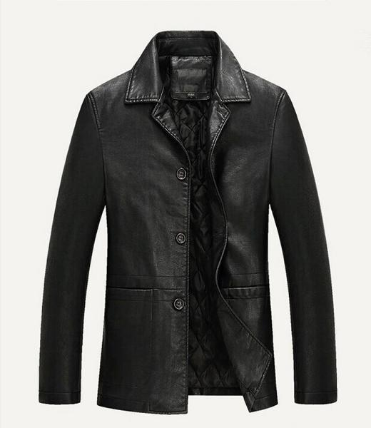 Spring Leather Jacket Soft Male Business Natural Cheap Men Blazer Plus size comfortable and healthy mens leather jacket