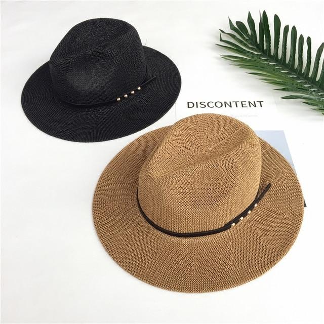 Nuevo cinturón de ocio Británico Hombres y mujeres del sombrero de paja  playa primavera verano protector 7c6f449a415