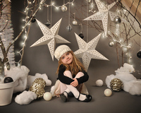 Christmas Child Photography Background Five Pointed Star Baby Photography Backdrops Achtergronden Voor Fotostudio SJOLOON