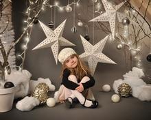 Винил Фотографии Фоном Рождественская звезда Компьютер Отпечатано Обычай дети Фотографии Фонов для Фотостудии 5x7ft