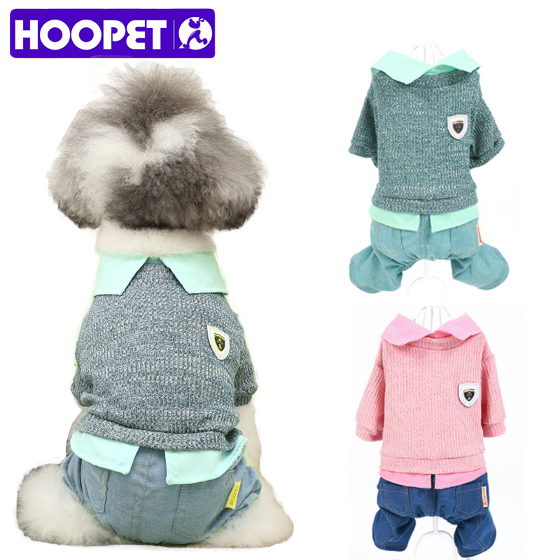 HOOPET Pet Clothing Dog Cat Four Legs Style For Spring Autumn Small Puppy Green Pink