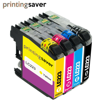 4pcs LC 223 BK/C/M/Y Ink Cartridge For Brother LC223 DCP-J4120DW MFC-J4620DW J4625DW MFC-J5320DW MFC-J5620DW Printer цена 2017