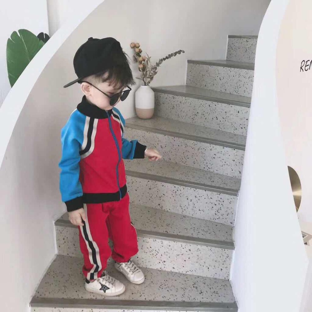 Kids Sport Suit Autumn Spring Children Girls Clothes 100% Cotton Red Blue Girls Boys Clothes Set Age 2 4 6 8 10 12 Years 2018 baby girls red cardigan floral design cute spring coat for children teenage spring clothes age 456789 10 11 12 years old