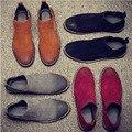 Los hombres Británicos de la moda masculina de cuero Genuino botas de nieve de cuero mate botas zapatillas hombre de arranque chelsea chelsea D88-3