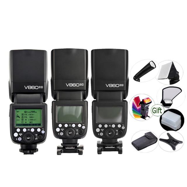 GODOX V860IIC V860IIN V860IIS V860IIO V860IIF ליתיום סוללה TTL 2.4G HSS פלאש Speedlite עבור Canon Nikon Sony אולימפוס פוג י