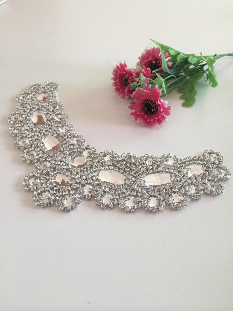 2016 Professional Bling Wedding Dress Sash Rhinestone Applique Bridal Belt Crystal Appliques Trim For Wedding Dresses Belt