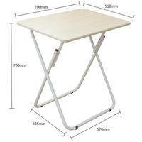 70 50CM Folding Laptop Table Free Installation Notebook Table Portable Mobile Bedside Table Modern Sofa Side