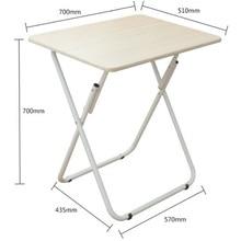 70*50CM Folding Laptop Table Free Installation Notebook Table Portable Mobile Bedside Table Modern Sofa Side Desk
