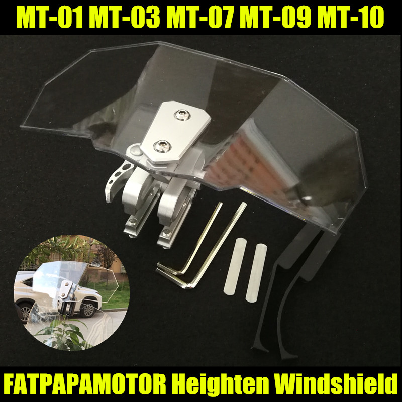 US $22 41 25% OFF|2018 NEW Hot Sale Motorcycle Windshield Increased FOR  YAMAHA MT 01 MT 03 MT 07 MT 09 MT 10 MT 15 MT125 FZ MT 01 03 07 09 10 15-in