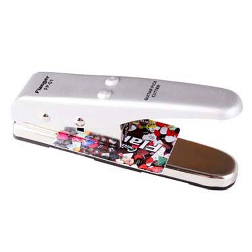 HOT Professional Portable Flanger Pick Punch Guitar Pick Plectrum Maker Pick Cutter Silver