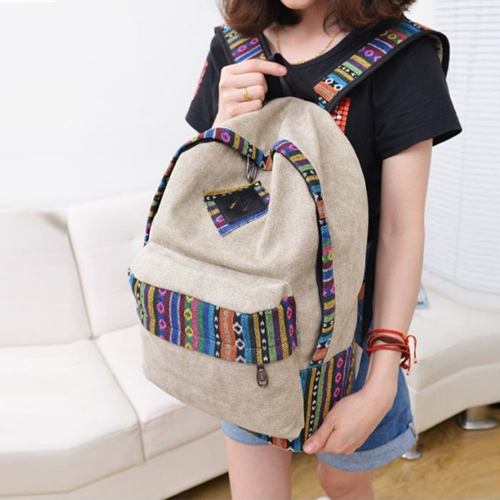 Retro Women Backpack for School Teenagers Girls Vintage Stylish Ladies Bag Backpack Female canvas good Quality mochila escolar#5 elviswords backpack for teenagers 3d orangutan dinosaurs print boy children schoolbag women book bag comfortable mochila escolar