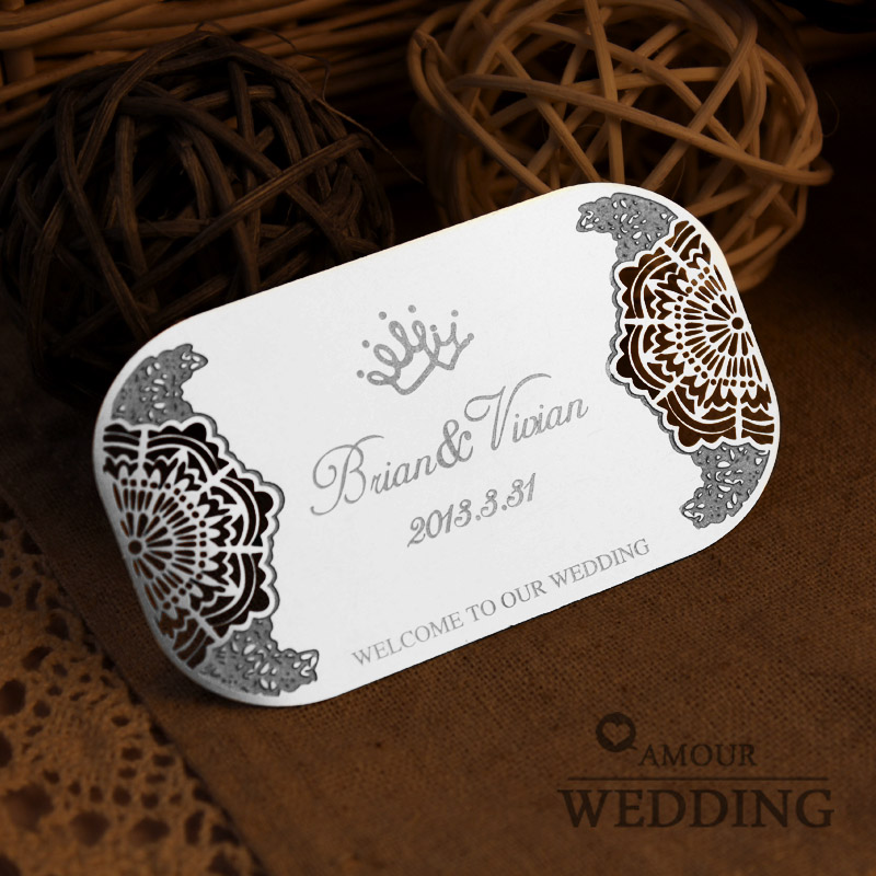 Metal cutout wedding invitations card wedding invitations ...