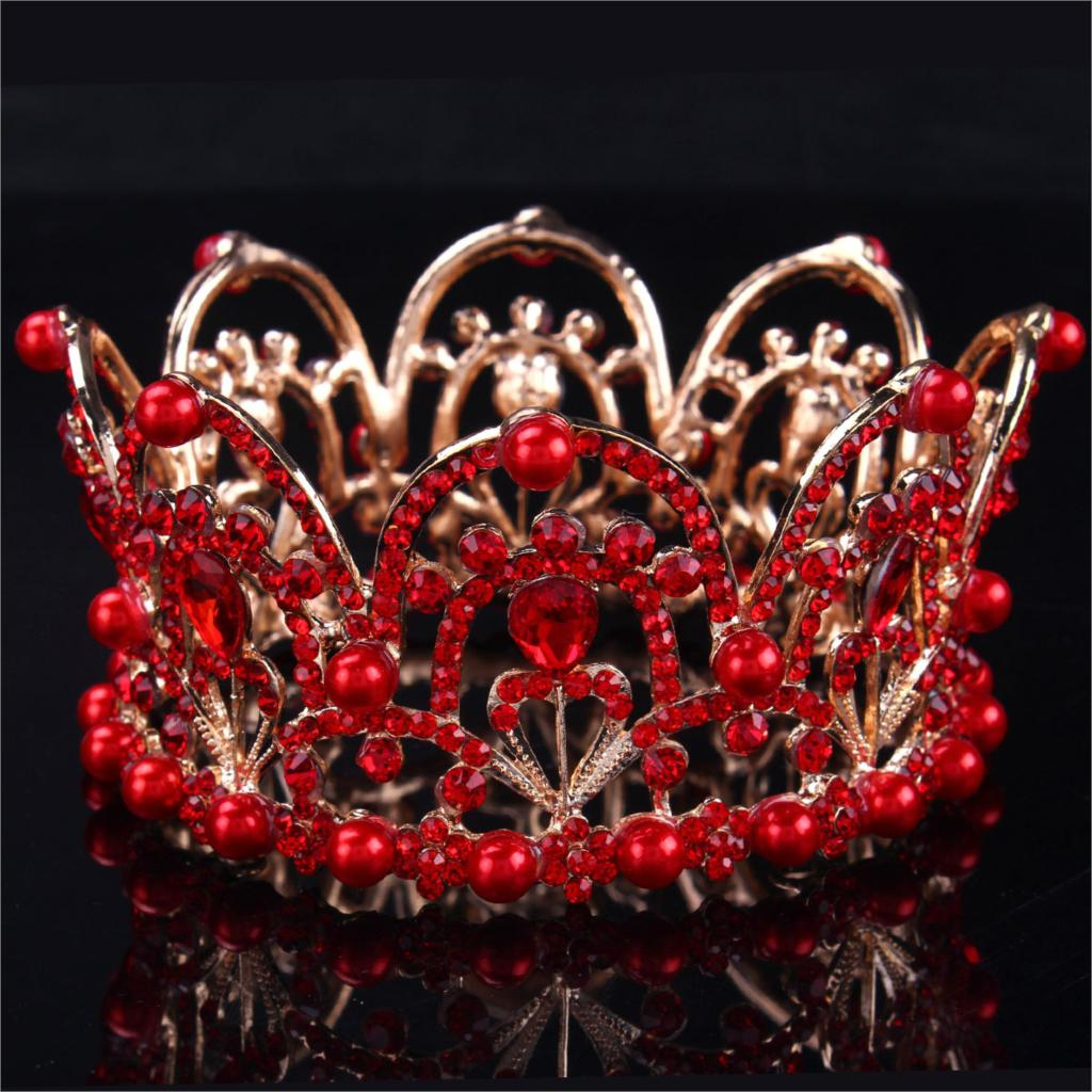 2015 Baroque bride Europe and America Crown hair accessory jewelry wholesale rhinestone Crown headband accessories833