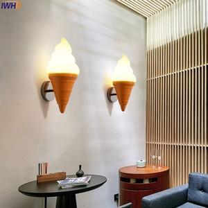 Image 2 - IWHD Ice Cream Modern Wall Lamp Carton Children Room Bar LED Wall Light Sconce Fixtures Arandelas Lampara Pared