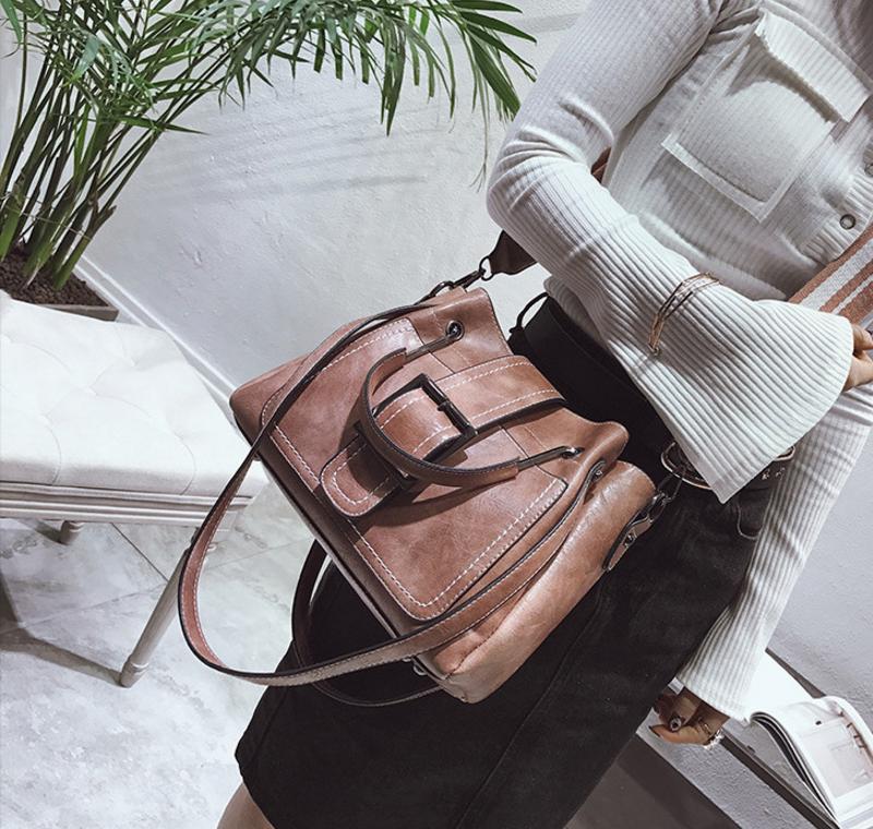 New European and American style vintage PU women handbag shoulder bag messenger bag 83