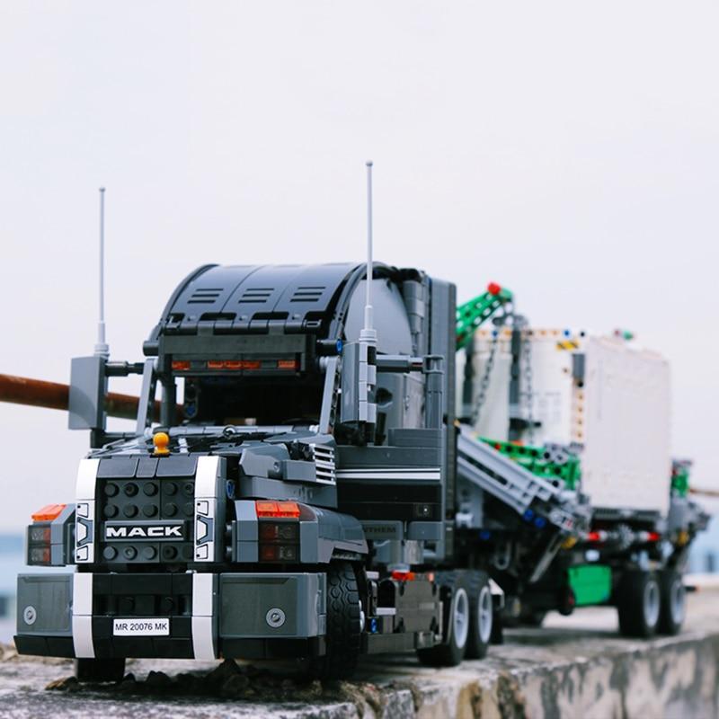 Nouveau 2906 pièces le Mack gros hymne camion Set Compatible Legoinglys 42078 blocs de construction Technic camion enfants cadeau d'anniversaire