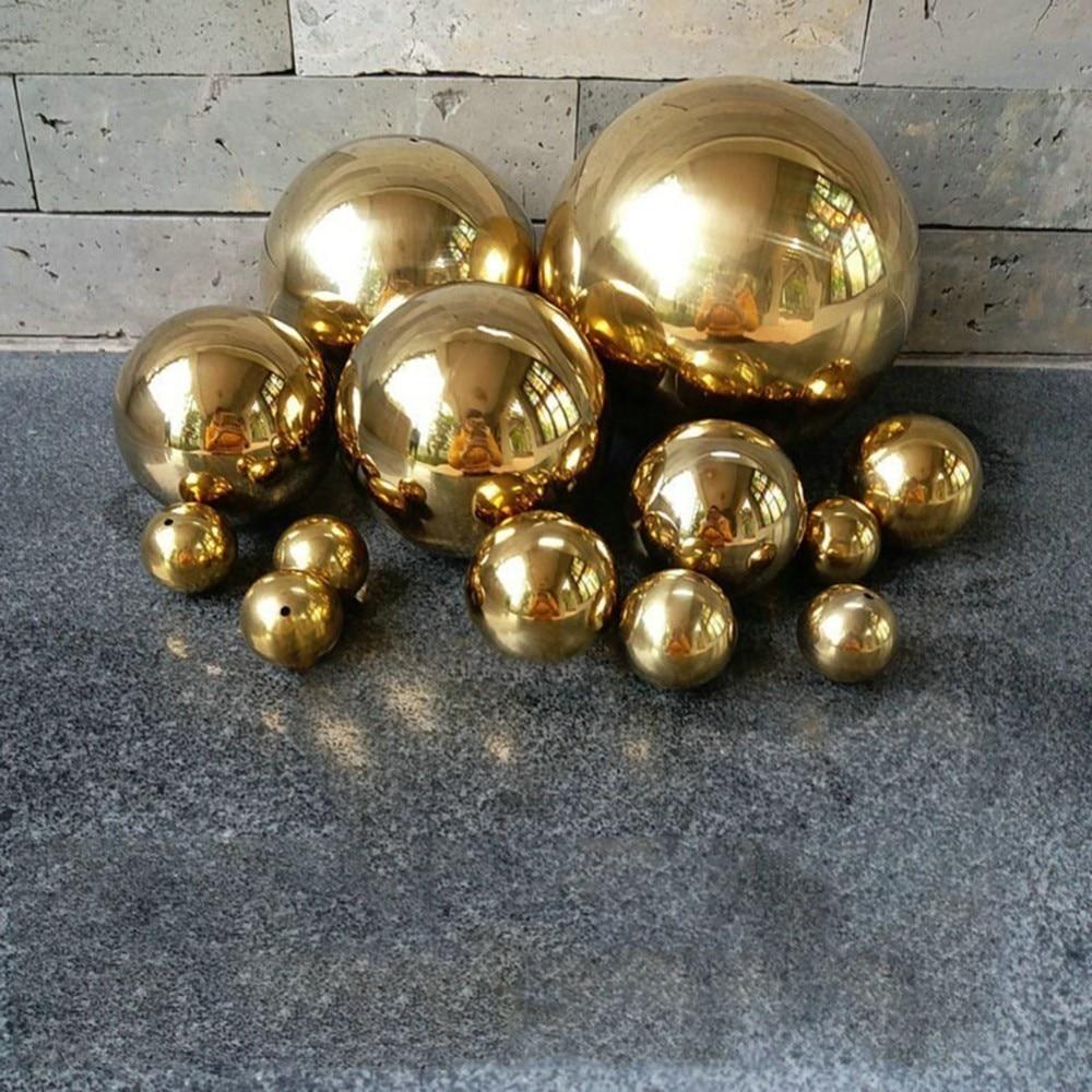 Abundante Bola Mágica De La Decoración Del Hogar De Las Bolas De Navidad Del Metal Dorado Decorativo De La Esfera Hueca Del Oro Del Titanio 201