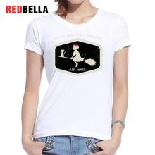 REDBELLA Cool Women T-shirt Totoro Cartoon Manga Japan Manga Anime Feminina Tees Cotton Print White Casual T Shirt Clothing New