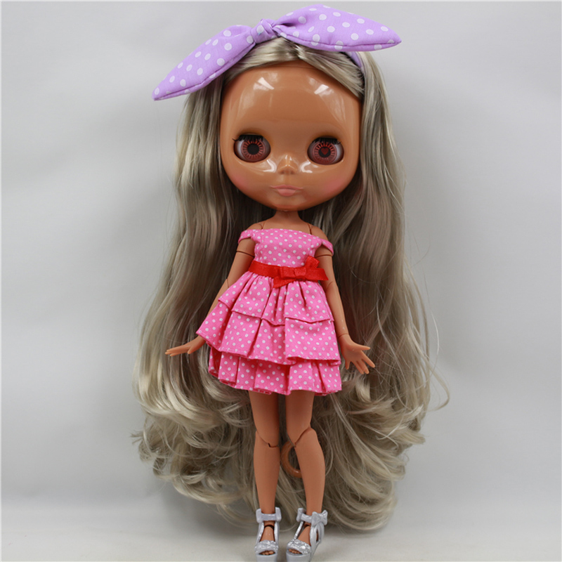 Nude Blyth Doll Toy Girls Gift For DIY BJD neo 30cm 1/6 Jointed Body blyth nude 30cm fashion red and black boneca cabelos longos bonecos colecionaveis doll toys for children girls