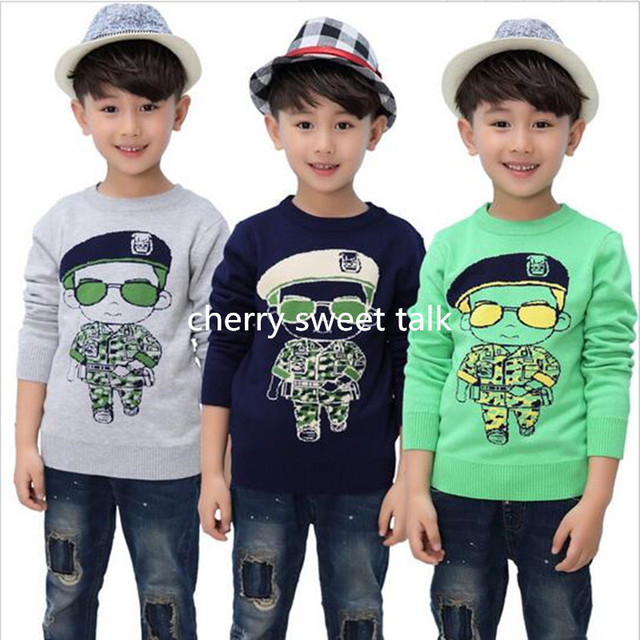 Products sell like hot cakes superman sweater children hedge quality of boy and girl sweater knitted children's sweaters
