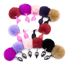 Rabbit Girl Tail Sex Toys Silicone Plush Anal plug Cosplay Cute Tail Anal Erotic Toy For Couples Man Women Gay Size Small