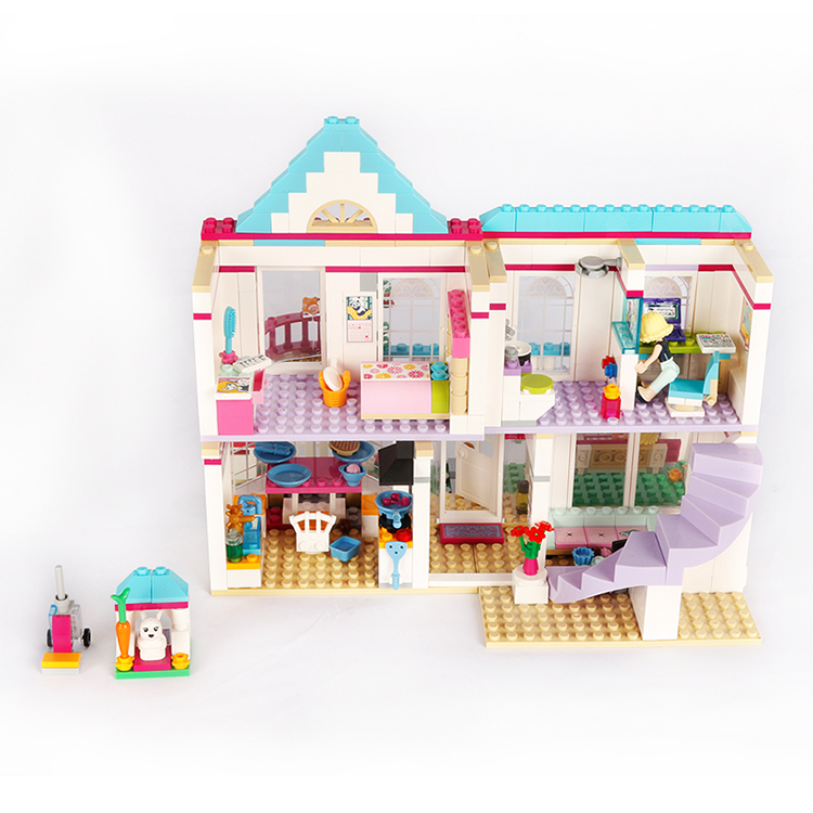 City street view My good friends girls clubs stephanie house building block parents figures Villa bricks 41314 toys for kid gift