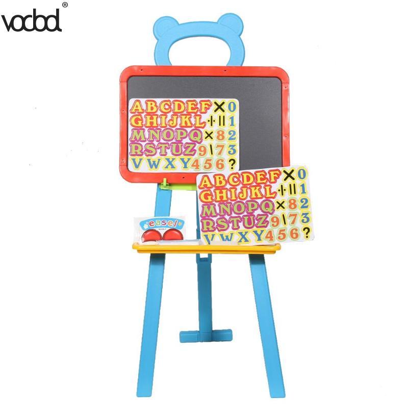 3in1 Children Kids Learning Easel Stand Magnetic White Black Board Chalkboard Blackboard Whiteboard Alphabet Number Chalk magnetic chalkboard blackboard sheet decorative black chalk writing board blackboard stickers 60 x 40 cm