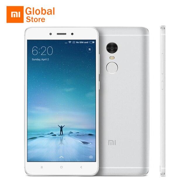 "Xiaomi Redmi Note 4 3 ГБ 32 ГБ мобильный телефон MTK helio X20 Дека Core 5.5 ""FHD 4100 мАч Батарея отпечатков пальцев ID 13MP Камера"