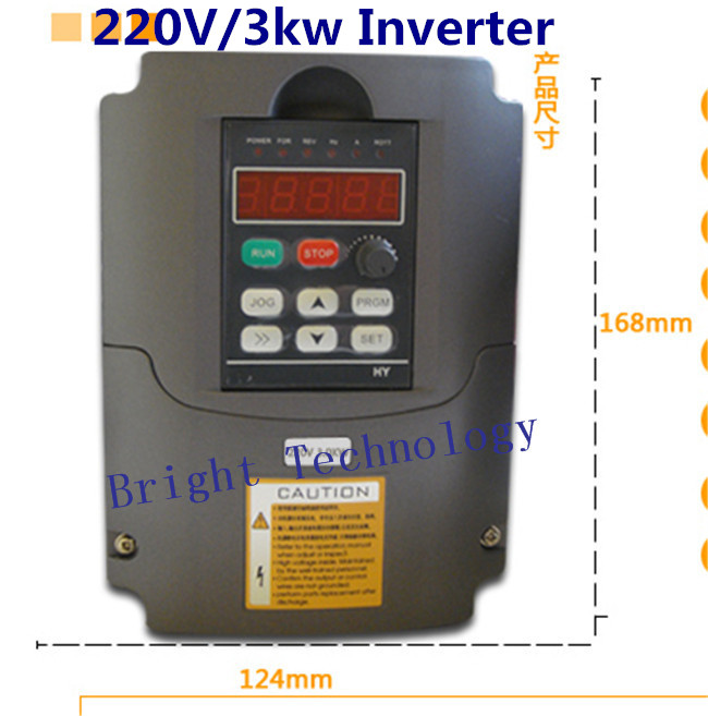 цена на 3KW 220V AC Variable Frequency Drive VFD Inverter for 3.0KW spindle 3000W vfd 3KW Inverter