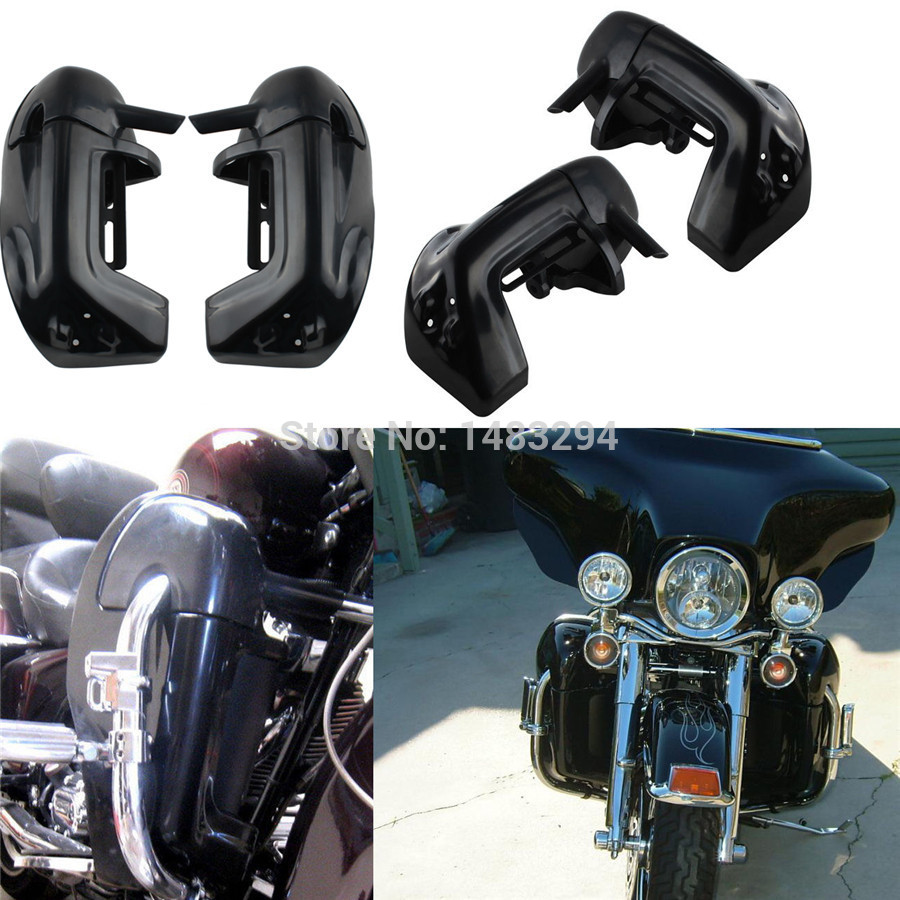 Motorcycle Leg Fairings Kit Lower Vented Leg Protector Decorative Fairing Fits For Harley Touring Road King Electra Glide FLHR цена и фото