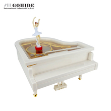 Gohide Creatives Design Piano Music Box Dancing Ballerina Musical Toy Serinette Gifts Birthday Presents Valentine's Day Gifts