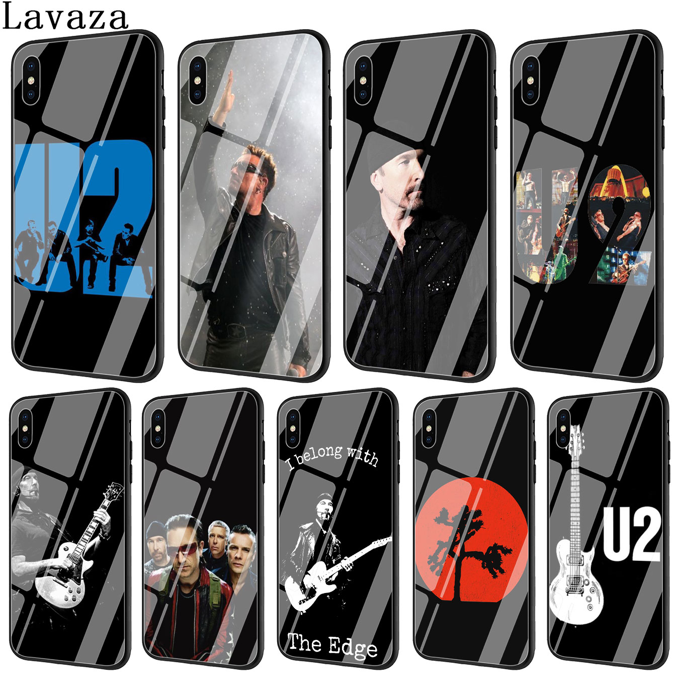 Lavaza U2 Bono The Edge Tempered Glass Phone Cover Case for Apple iPhone XR X XS Max 6 6S 7 8 Plus 5 5S SE 10 Cases 8Plus 7Plus image