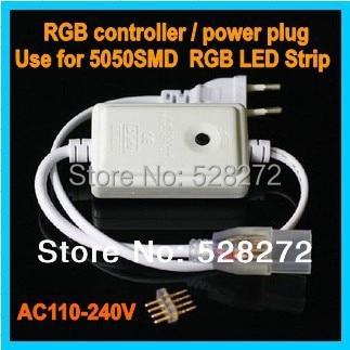 1 PC RVB contrôleur Utilisé pour 5050 RGB led bande connecteur/plug UE, 700 w, 110 V-240 V RGB LED Bande Lumière puissance d'entraînement