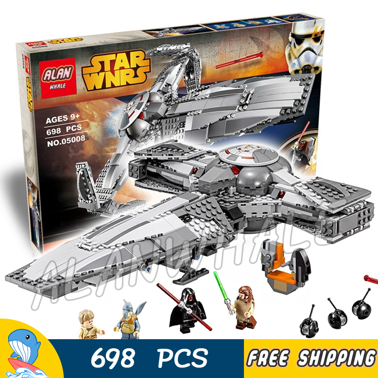 ФОТО 698pcs Bela 05008 New Star Wars Sith Infiltratortm Model Building Blocks Sets Gifts Boys Bricks Compatible With lego