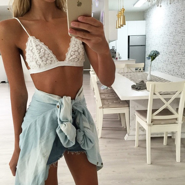 93351d4ad3f5d Soft Cup Bra Top Unlined Bralette Comfy Outfit Brassieres Cute Crop Tops  T-shirt Bralet