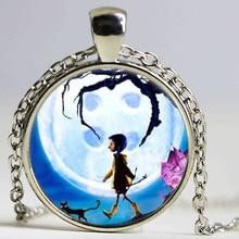 New Coraline Photo Cabochon Glass Tibet Silver Chain Pendant Necklace HZ1