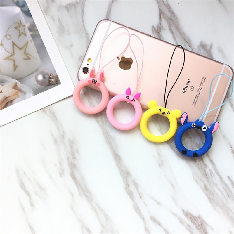 Cartoon Universal Mini Silicone Soft Mobile Phone Straps Ring Pendant Cellphone Accessories for iPhone USB camera Car keys in Mobile Phone Straps from Cellphones Telecommunications