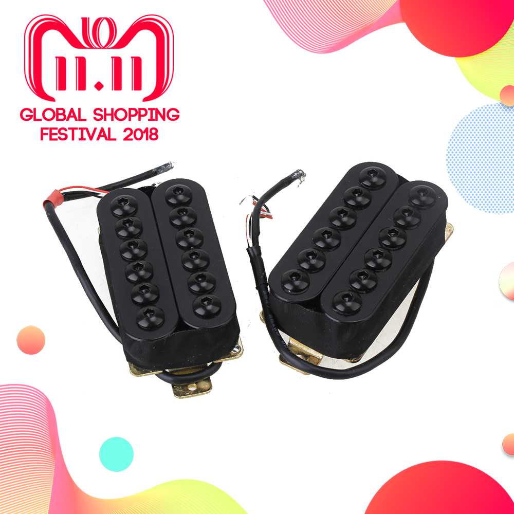 Yibuy HOC-BK-TMB Double Coil Metal Electric Guitar Pickups Humbucker Black 3d пазл expetro снежный баран 10705