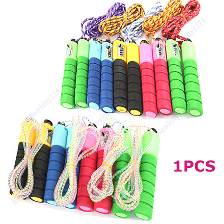 Adjustable Skipping Jump Rope with Counter Number Fitness Exercise Workout Gym-P101 skipping rope