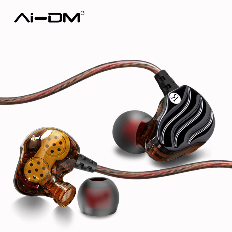 ADMI In-ear Headphones Dual Driver Wide Earphones With Mic Noise Canceling Bass Headsets Sport Earbuds Fone De Ouvido For iPhone