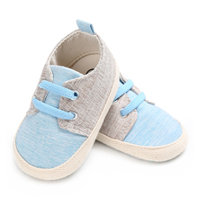 Märke Baby Boy Crib Skor för Girls Elastic Band Nyfödda Skor Infant Skor Småbarn Loafers Child Non-slip Soft Sole Tofflor
